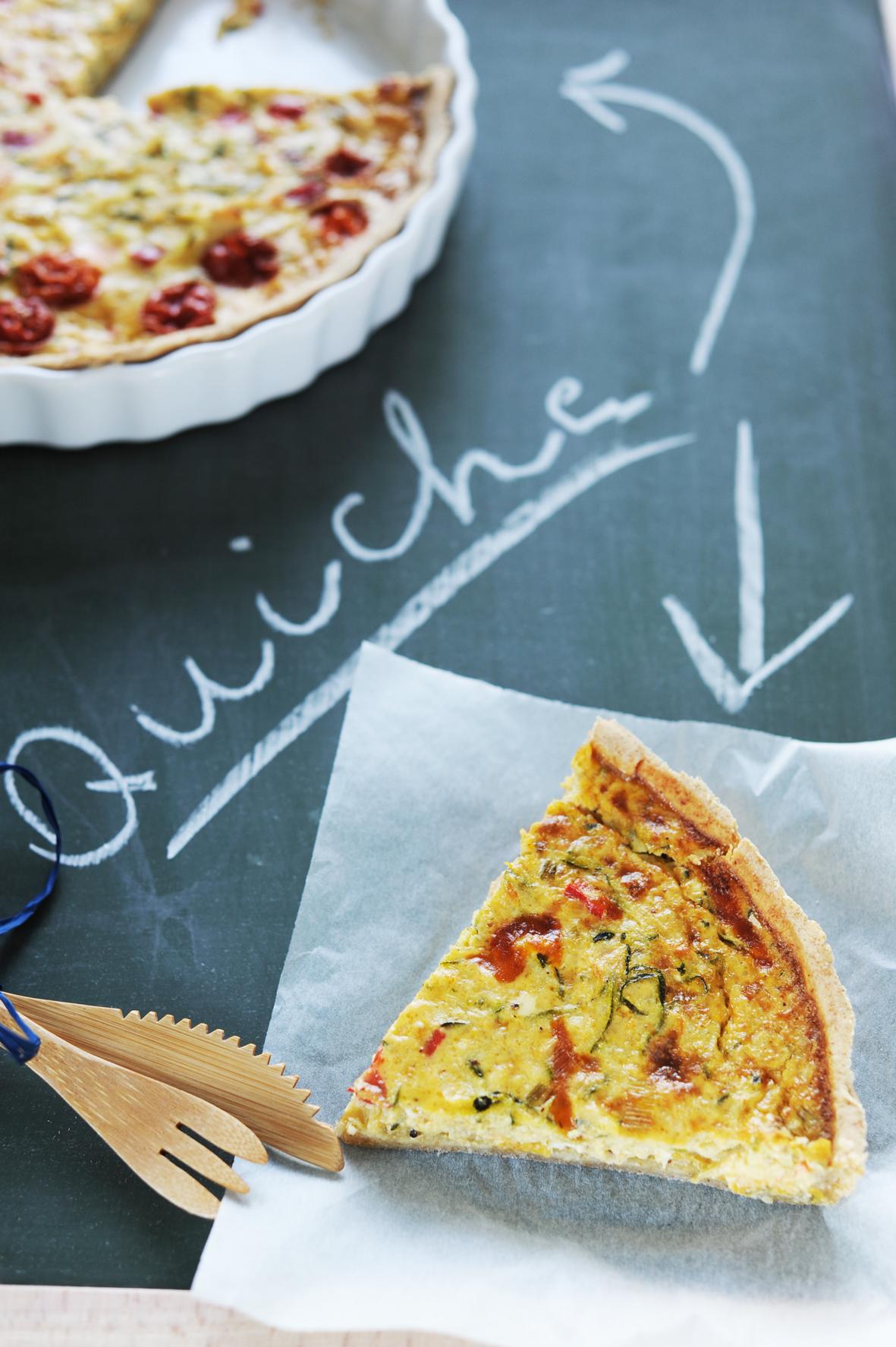 Zöldségcunami a quiche-ben