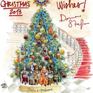 Még a karácsonyfa is Dolce & Gabbana