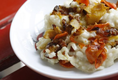 Pirított (gyökér)zöldséges rizottó