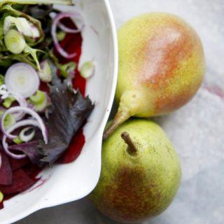 Körtés céklás saláta