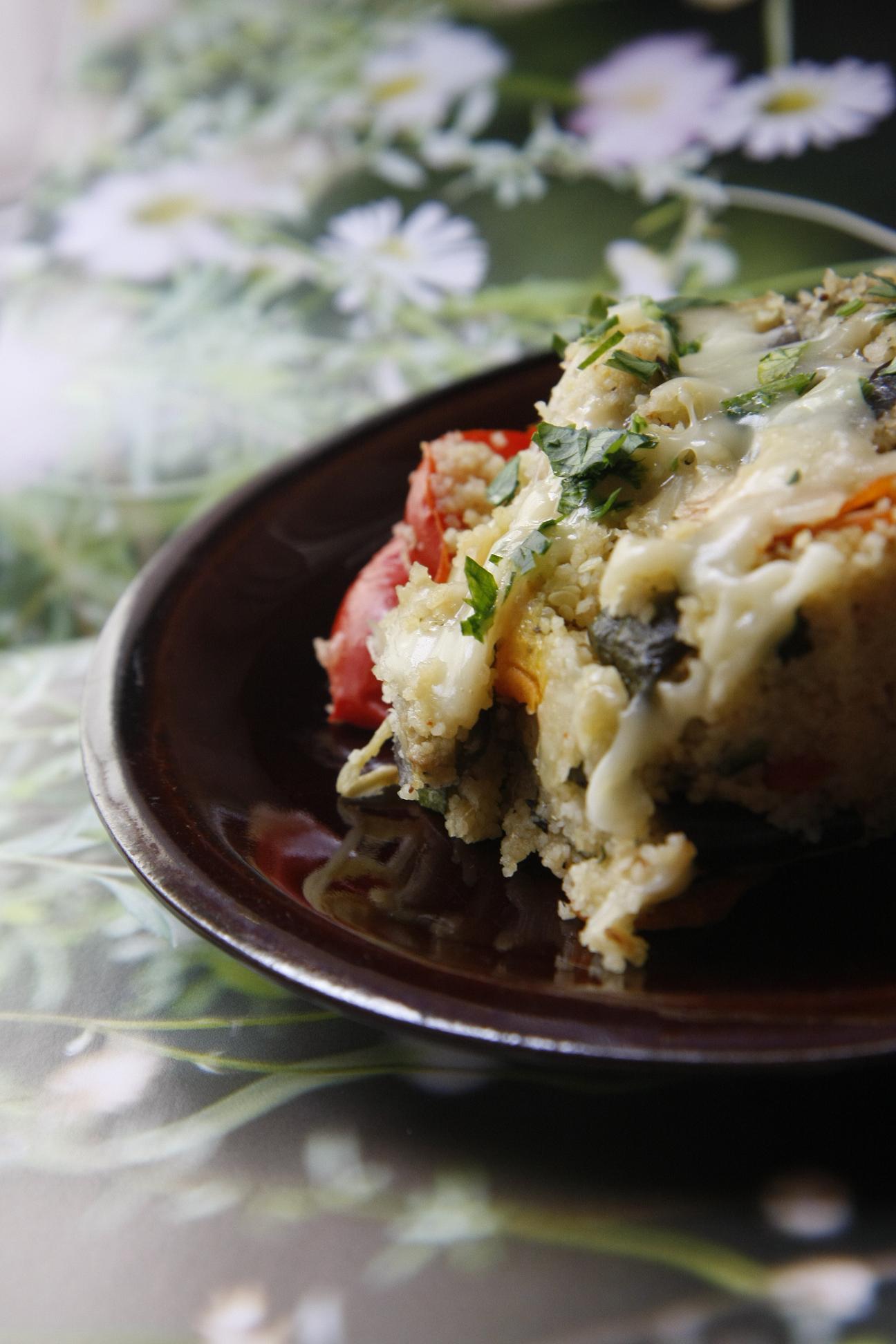 Így készíts sült zöldséges kuszkuszt gyorsan