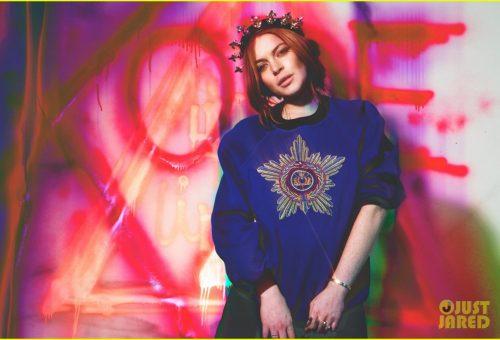 Magyar tervező ruhájában pózolt Lindsay Lohan