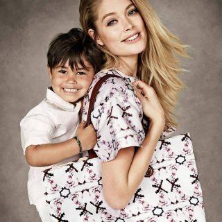 Doutzen Kroes szupermodell és kisfia közös kampányfotói