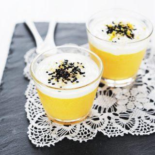 Gyömbéres sárgarépa panna cotta citromos joghurttal
