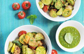 Nyárindító pestós saláta