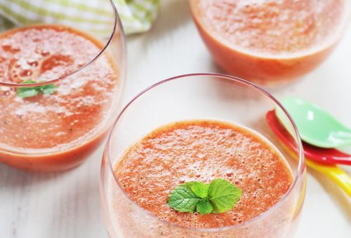 Dinnye gazpacho forró napokra