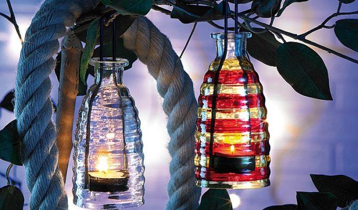 Kerti lámpás romantikus nyárestékre