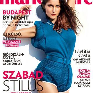 Laetitia Casta az augusztusi Marie Claire címlapján