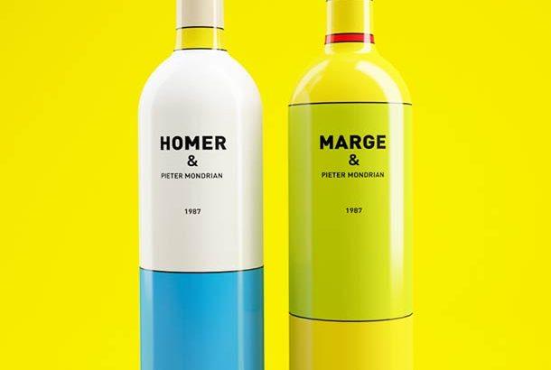 Simpson család inspirálta borosüvegeket terveztek