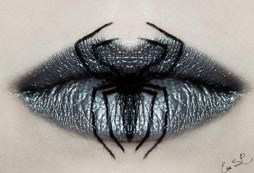 Kísértetiesen csábító ajkak halloweenre