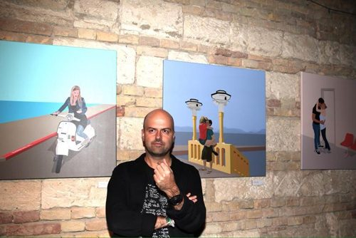 Csókolj duplán Weiler festményen és pólón!