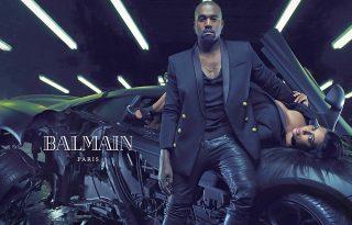 Kim Kardashian és Kanye West a Balmain arcai