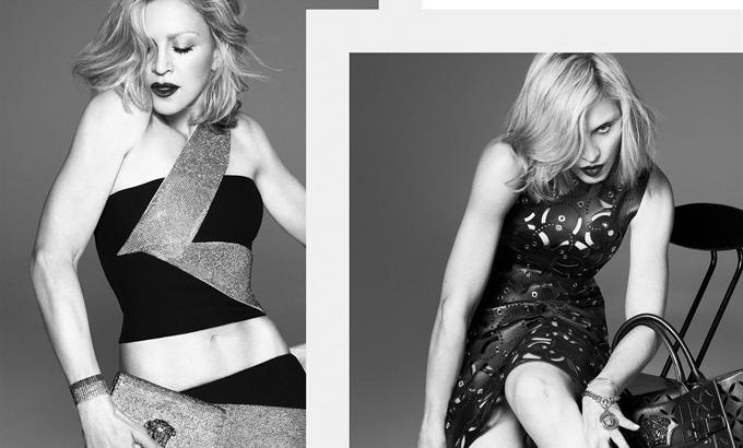 Madonna a Versace új arca