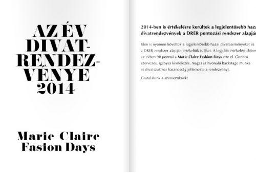 Az év divateseményének választották a Marie Claire Fashion Dayst