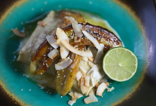 Banános, szezámos-kókuszos palacsinta a fakanalás srác konyhájából
