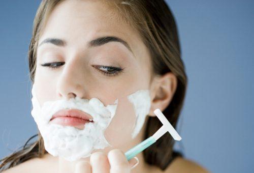 A nők is borotválják az arcukat?
