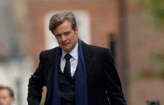 Colin Firth a Bridget Jones-forgatáson