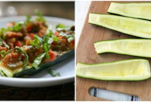 Színes cukkini hajók – cukkini a sokoldalú zöldség