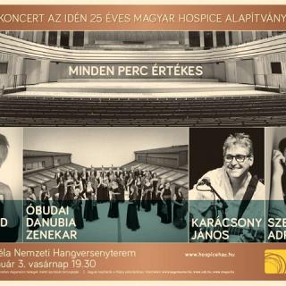 Nagyszabású koncert a Magyar Hospice Alapítvány 25. szülinapja alkalmából