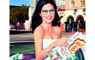 Adriana Lima szemüveget reklámoz új kampányában
