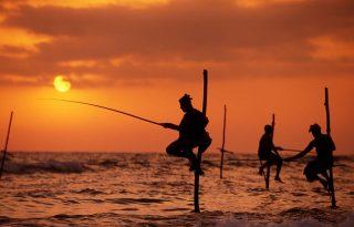 Élő festmény – halászok Sri Lankán