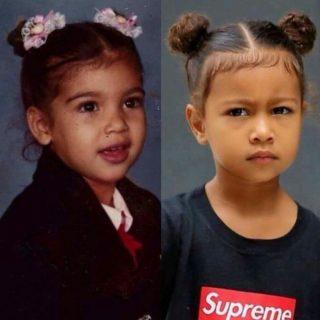 Kim Kardashian kislánya anyukája hasonmása