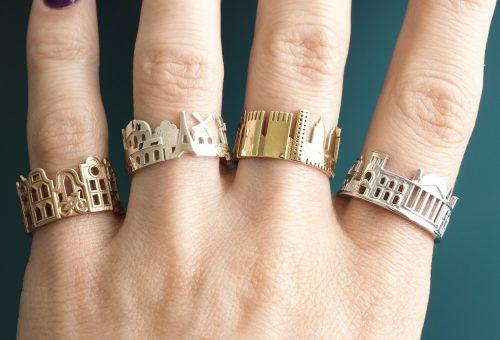 Divatos gyűrűk kedvenc városaidról mintázva