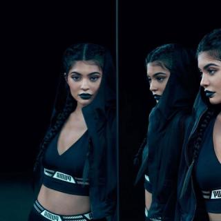 Kylie Jenner vagány fekete hattyú a Puma legújabb reklámjában