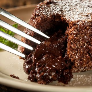 Édes, csupa csoki láva tortácska