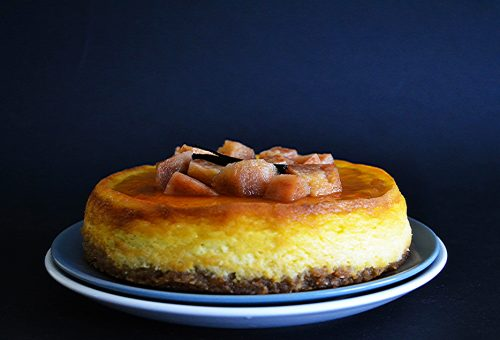 Mennyei vaníliás-birsalmás cheesecake