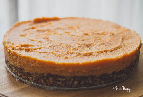 Kókuszos sütőtöktorta sütés nélkül