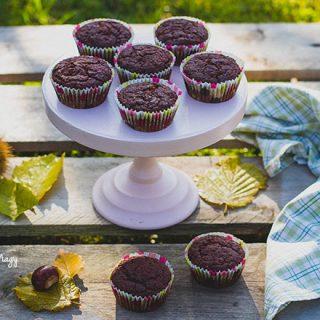 Sütőtökös diós és kakaós muffin, persze vegán