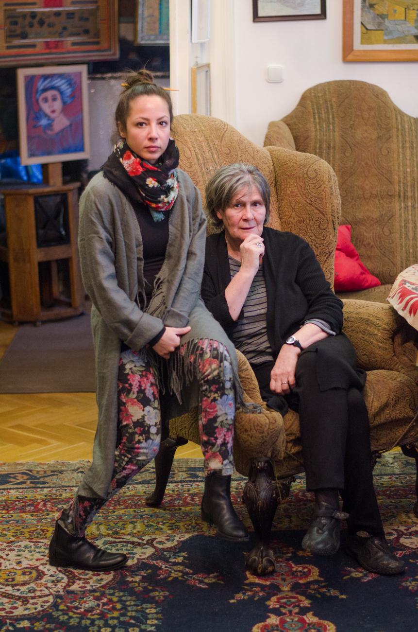 2. kép: Fátyol Kamilla, a színházi estek főszervezője és Kőszegi Edit.