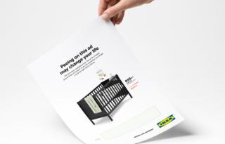 A szimpla lepisilős terhességi teszt a múlté, a svéd bútormárkának van egy viccesebb megoldása