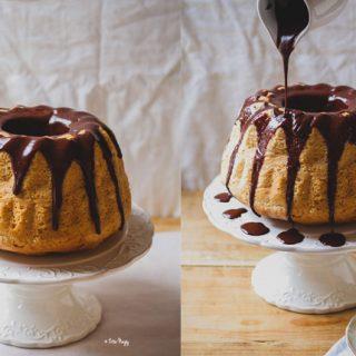 Vegán kókuszos kuglóf csokoládé ganache-sal