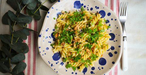 Egyszerű, de nagyszerű diós-gorgonzolás tészta