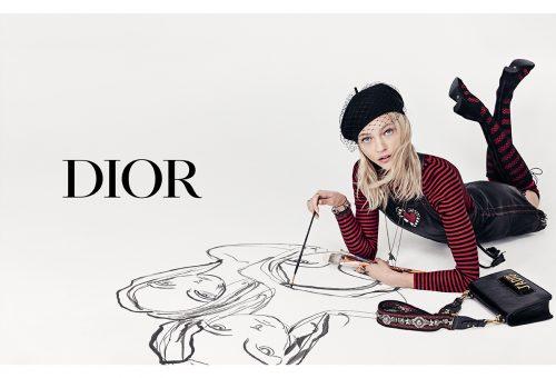 Gyönyörű festőművész a Dior új kampányának arca