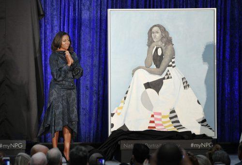Festmény készült Michelle Obamáról