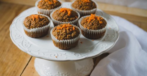 Vegán kókuszos répa muffin