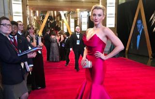 Borbély Alexandra meseszép estélyiben jelent meg az Oscaron