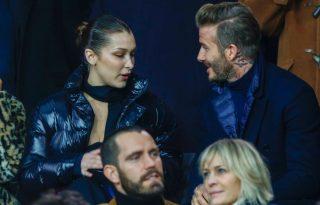Bella Hadid és David Beckham együtt nézte a Paris Saint-Germain meccset