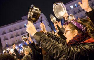 Feminista sztrájkkal ünneplik a nőnapot Spanyolországban