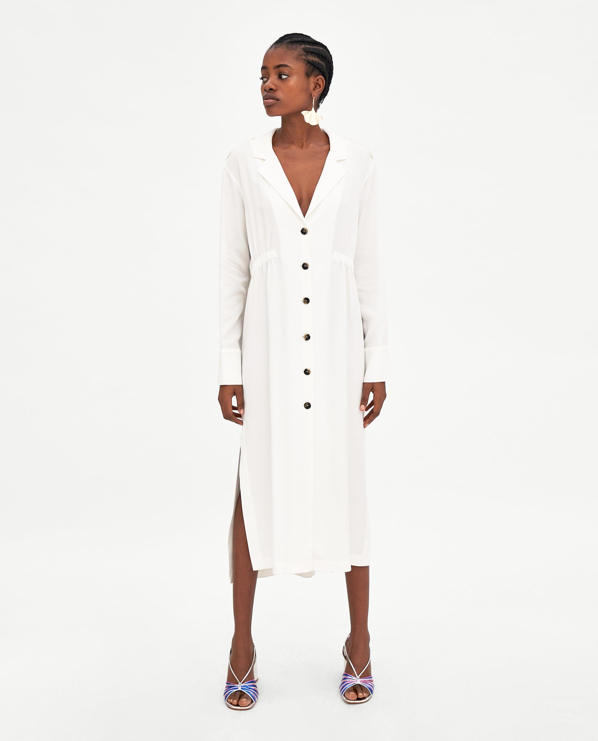 10. kép:  Gombos fehér ruha Zara 9995 Ft