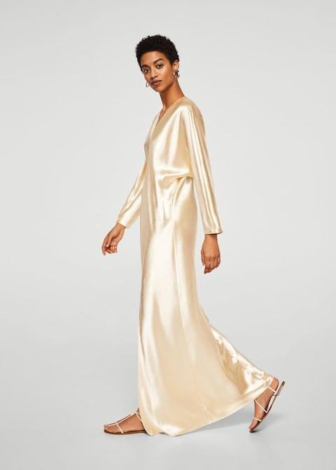 2. kép: Szaténozott hosszú ruha Mango 29 995 Ft