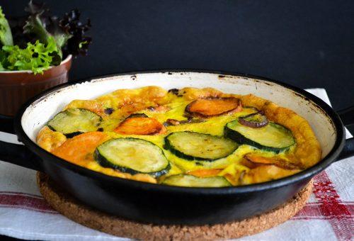 Egészséges villámvacsora: cukkinis spanyol tortilla