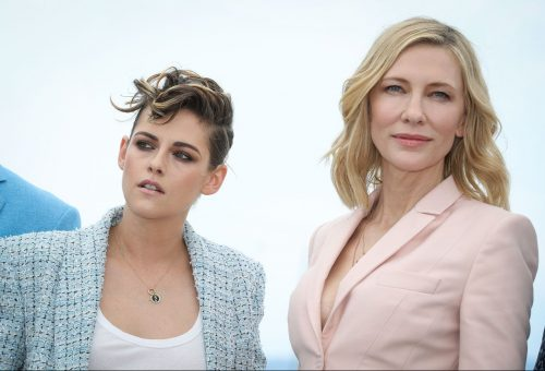 Cate Blanchett és Kristen Stewart fagyiszínű kosztümben hódítja meg Cannest
