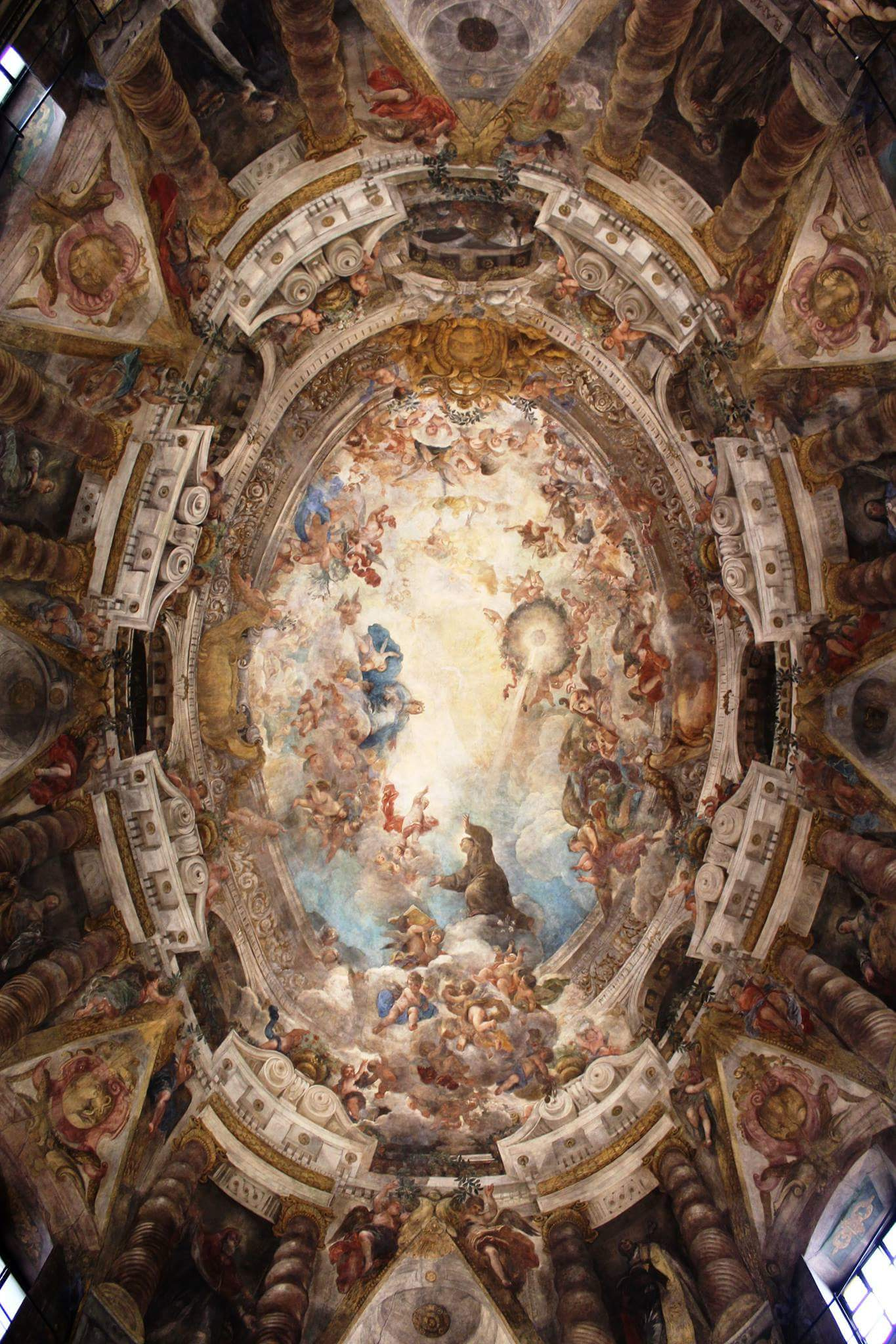 6. kép:  Freskó a San Antonio de los Alemanes templomban, Malasanaban. – Ez Madrid Sixtus-kápolnája