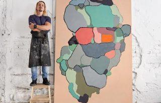 Ásványok inspirálták Kertész Attila első önálló kiállítását