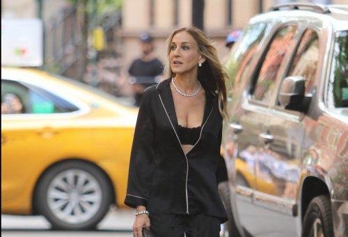 Sarah Jessica Parker fehérneműben flangált New Yorkban