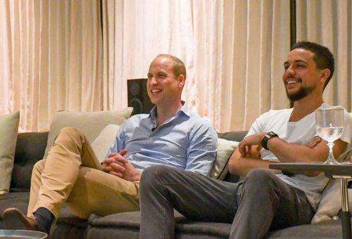 Vilmos herceg a jordán herceggel nézte a focivébét